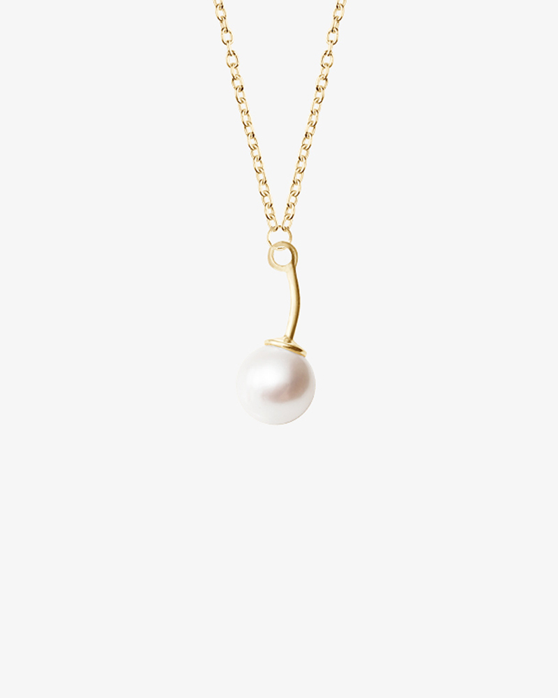 le-pearl-single-necklace-gold
